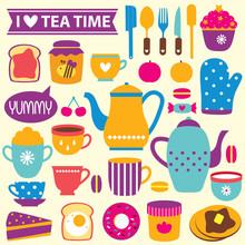 Tea Time Clip Art Set