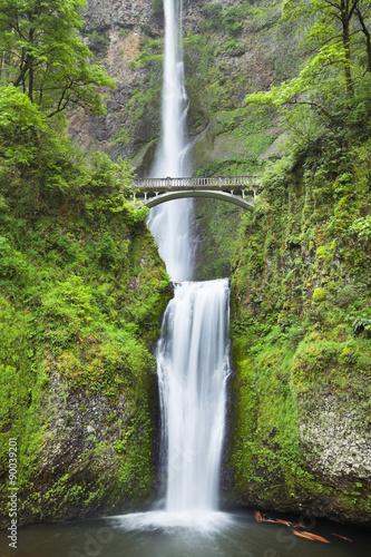 Foto op Canvas Watervallen Multnomah Falls in the Columbia River Gorge, Oregon, USA