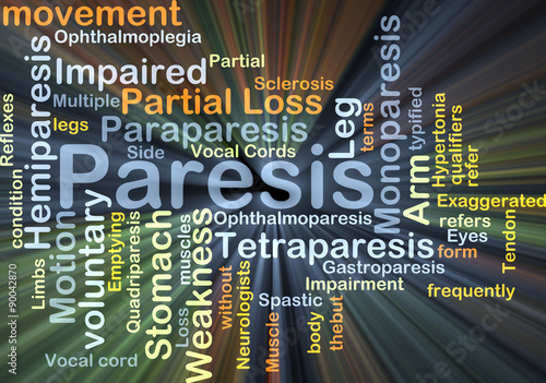 Paresis background concept glowing - Buy this stock