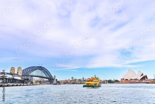 View of Sydney Harbor Bridge and Opera House Canvas Print