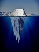 Iceberg With Underwater View