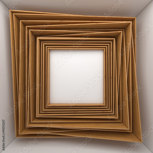 2ca120ecf95 blank frames on white wall - Buy this stock illustration and explore ...