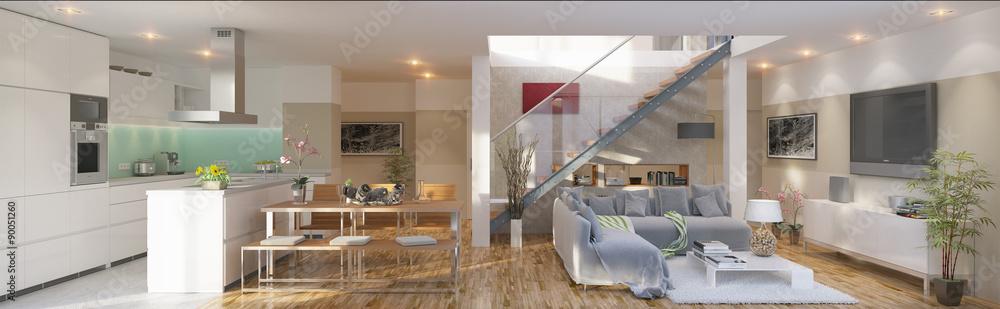 Fototapety, obrazy: luxury Apartment - Luxus Apartment