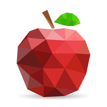 Vector Illustration Of An Apple