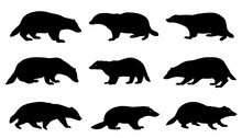 Badger Silhouettes