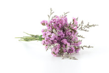 Statice Flower Bouquet  On Whi...