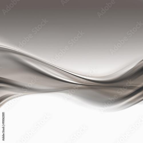 Fotobehang Fractal waves silver background