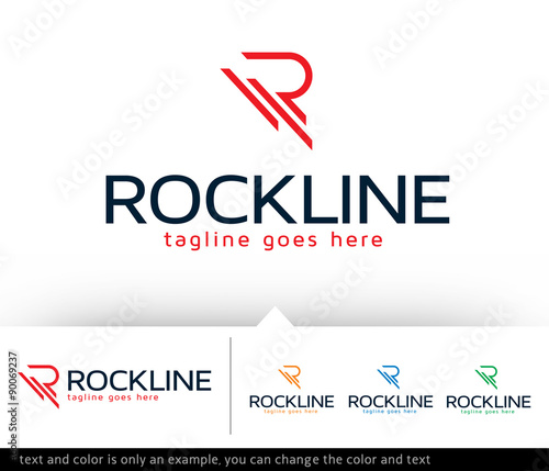 Photo  Rockline Letter R Logo Template Design Vector