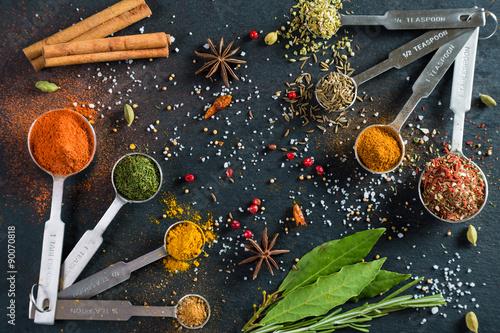 Printed kitchen splashbacks Spices Variety is the spice