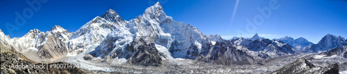 Montage in der Fensternische Nepal Mount Everest panorama