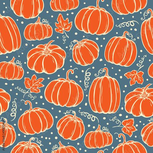 Cotton fabric Pattern of pumpkins