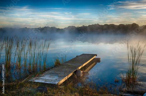 Poster Lac / Etang Misty Lake
