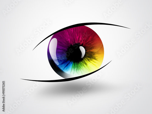 Photo rainbow eye