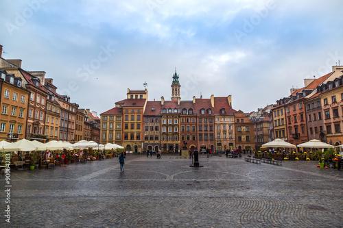 Fototapeta Old town sqare in Warsaw obraz na płótnie