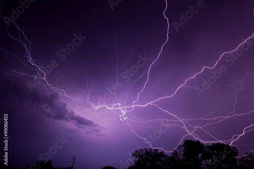 Fotografie, Obraz  Lightning Bolts
