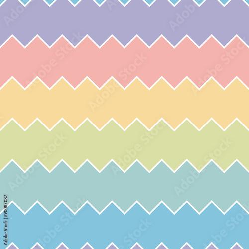 Foto op Canvas ZigZag Seamless colourful rainbow sawtooth zig-zag pattern background