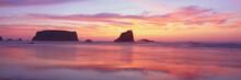 Bandon Beach At Sunset, Oregon