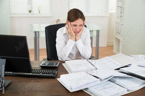 Fotografie, Obraz  Accountant Working At Desk