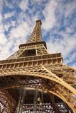Fototapeta Paryż - wieża Eiffela na tle nieba