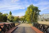 Fototapeta Fototapety mosty linowy / wiszący - alley - a park - Wroclaw