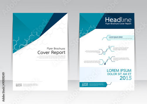 Abstract Design Vector Template For Brochure Flyer In A4 Size Buy