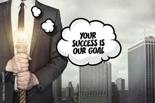 Your succes is our goal text on speech bubble Canvas Print