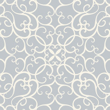 Damask With Seamless Pattern Vector