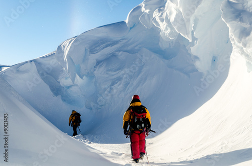 La pose en embrasure Antarctique Adventures in Antarctica