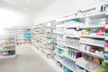 Medicines Arranged At Pharmacy