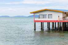 A House On Stilts Over Water, ...