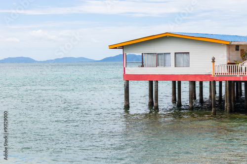 Valokuva A house on stilts over water, Chonburi, Thailand