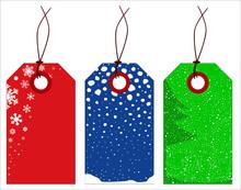 Christmas Winter Tags