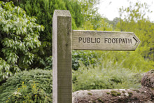 Public Footpath Sign Made Of W...