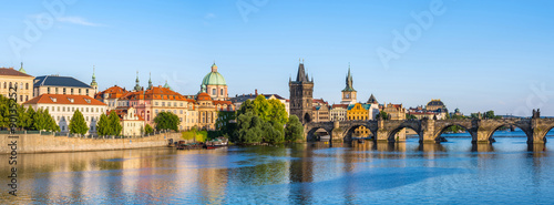 Spoed Foto op Canvas Praag Panorama of Prague city skyline, Czech Republic