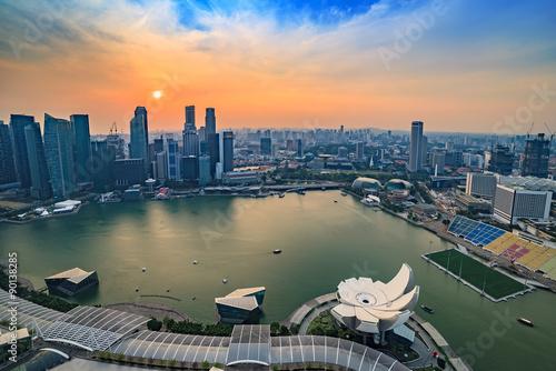 Photo  Singapore city skyline