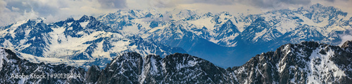 winter landscape of panorama Alps mountain #90138484