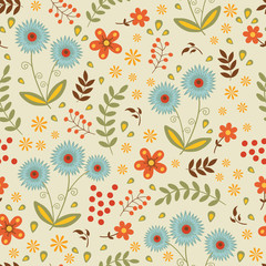 A beautiful seamless floral pattern