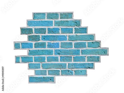 Fototapeta premium blue brick
