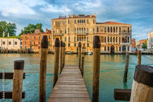 Obraz Wenecja o poranku, Kanał Grande - fototapety do salonu