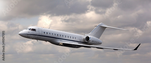 Fotomural Close up of a private jet flying