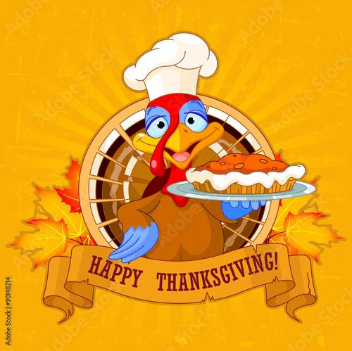 In de dag Sprookjeswereld Turkey Holds Pie
