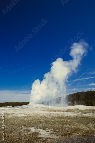 Keuken foto achterwand Natuur Park Old Faithful in Yellowstone National Park