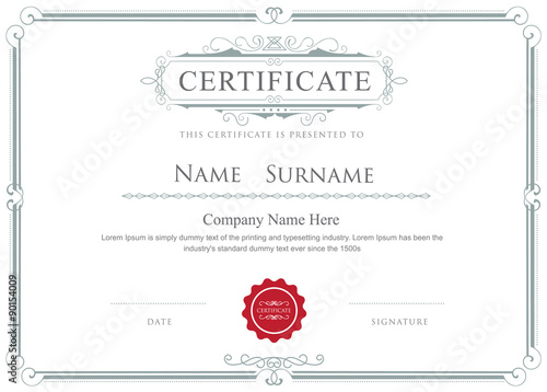 Certificate border vector elegant flourishes template - Buy this ...