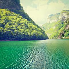 Fototapeta Vintage Green Water