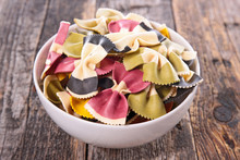 Bowl Of Colored Pasta
