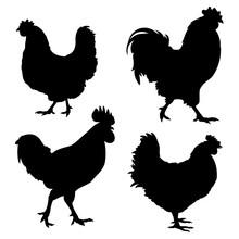 Chicken Silhouette 001