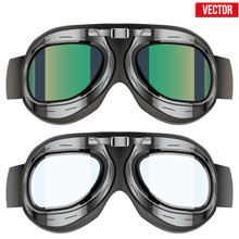 Retro Aviator Pilot Glasses Go...