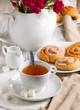 Breakfast with cinnamon buns