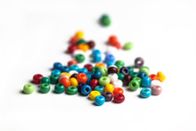 Colored Glass Beads Isolated