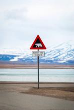 Polar Bears Warning Sign